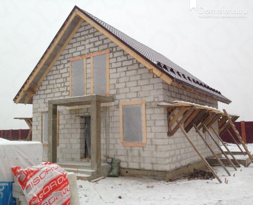 дом из газосиликата с мансардой